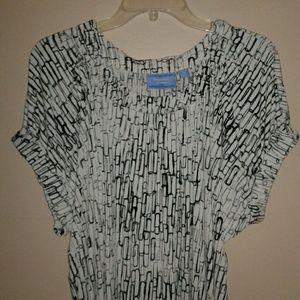 SIMPLY VERA WANG White & Black Box Style Dress XL